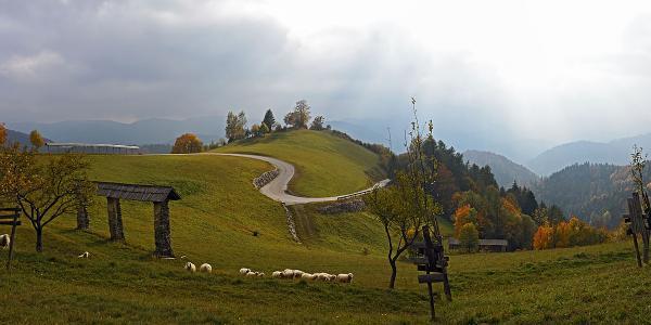 The road just below Torka