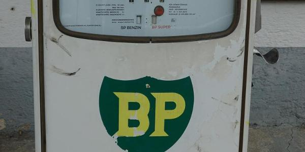 ausgedient Tanksäule im Hemhof