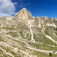 Blick zurück nach dem Abstieg vom Vaiolon-Pass