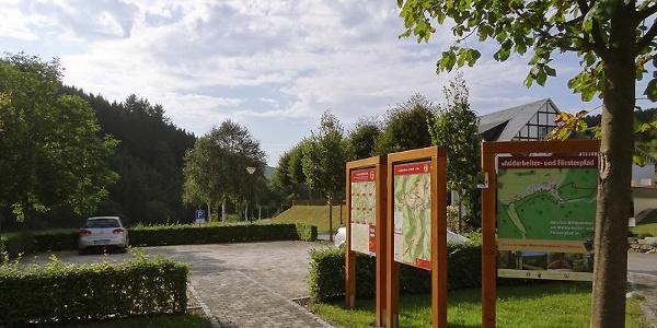 Wanderparkplatz  in Latrop, Ausgangspunkt für Wanderungen im Latroptal
