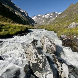 Alpeiner Bach hinter der Franz-Senn-Hütte