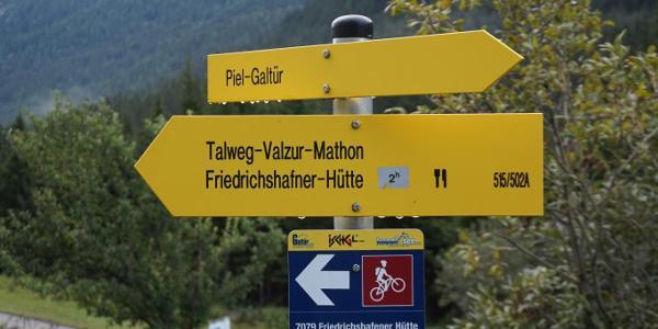 Start in Piel, 2h to Friedrichshafener Hütte