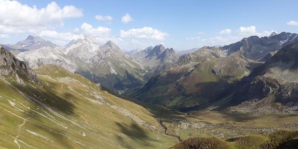 Blick von der Fuorcla Tschitta Richtung Albula Pass