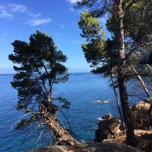 Azure blue Mediterranean