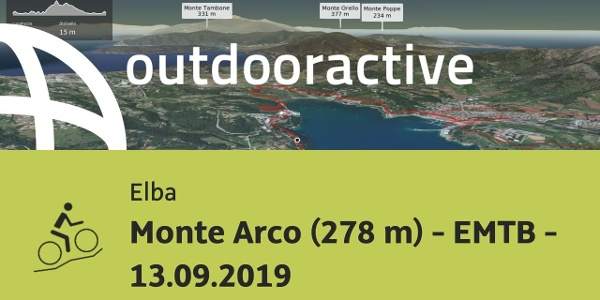 Mountain bike in Elba: Monte Arco (278 m) - EMTB - 13.09.2019