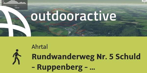 Wanderung im Ahrtal: Rundwanderweg Nr. 5     Schuld - Ruppenberg - Kottenborner Kreuz - ...