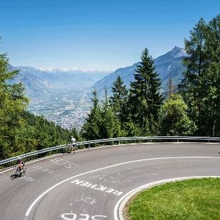 Coureurs du Tour de France, col de la Forclaz