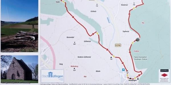 Infotafel zur Fürstenberg Runde - die hier vorgeschlagene Route verläuft im Uhrzeigersinn!