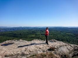 Foto An der Aussichtsstelle des Großen Zschirnsteins