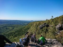 Foto Eine der Aussichtsstellen auf dem Großen Zschirnstein