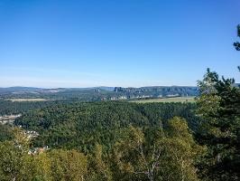 Foto Aussicht vom Kohlbornstein in Richtung Schrammsteine