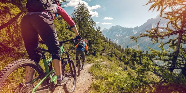 Mountainbike im Lötschental
