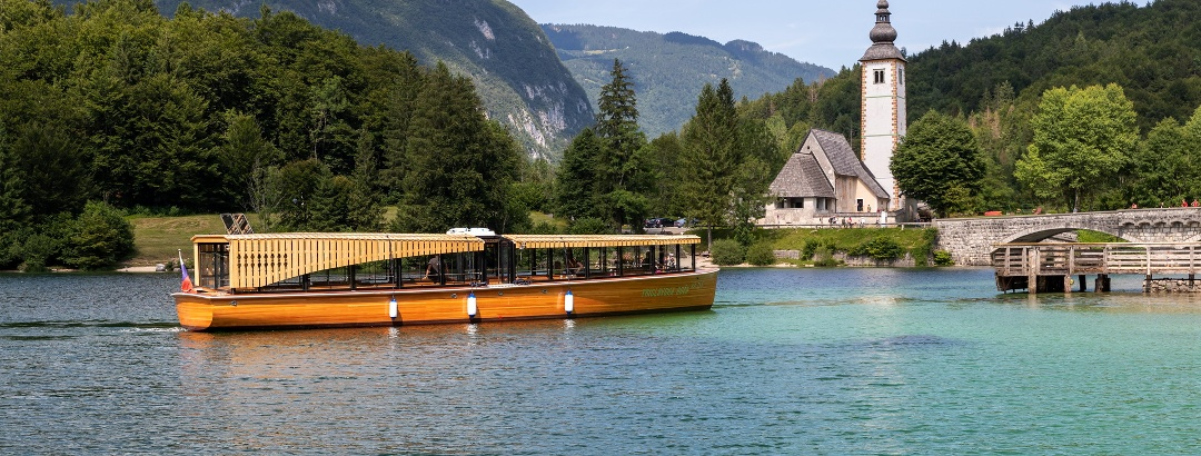 Triglav Rose boat on Lake Bohinj
