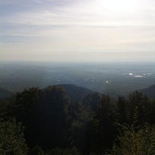 Blick von der Terasse des Kalmithauses