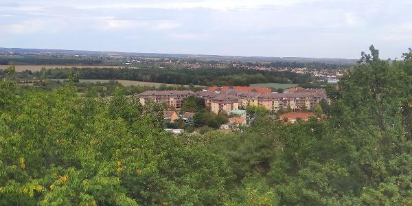 Répce-völgyi és kisalföldi panoráma, lakóteleppel az előtérben