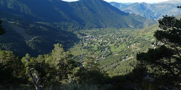 Blick vom Einstieg in die Via Ferrata auf Saint-Dalmas