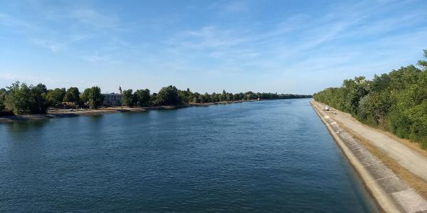 Der Rheinkanal bei Neuenburg