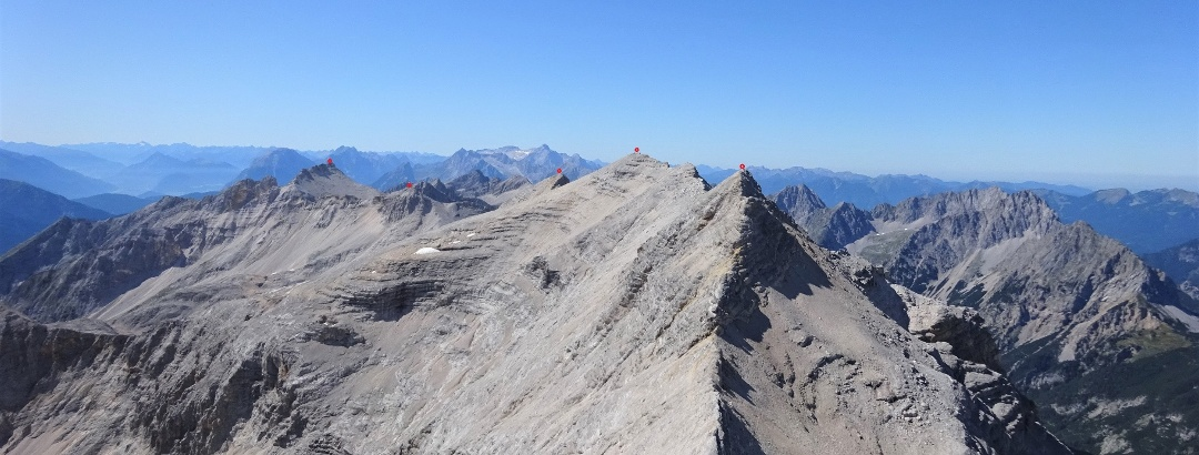 Der gesamte Gratverlauf - Gr. Seekarspitze - Marxenkarspitze - Ödkarspitzen.