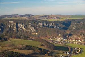 Foto Blick vom Lilienstein Richtung Kurort Rathen