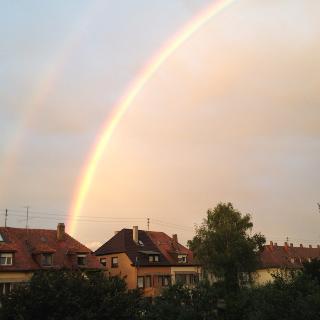 Regenbogen über KA-Bulach