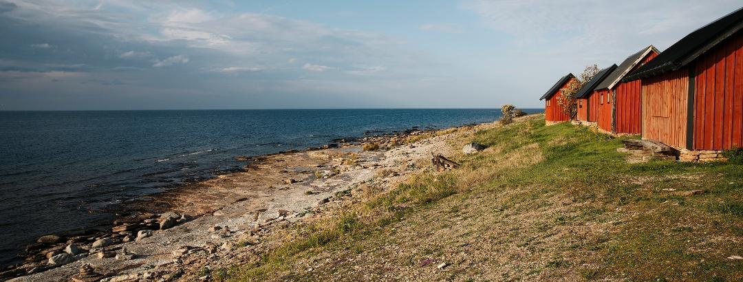Öland: Fischerhütten an den Neptunsfeldern