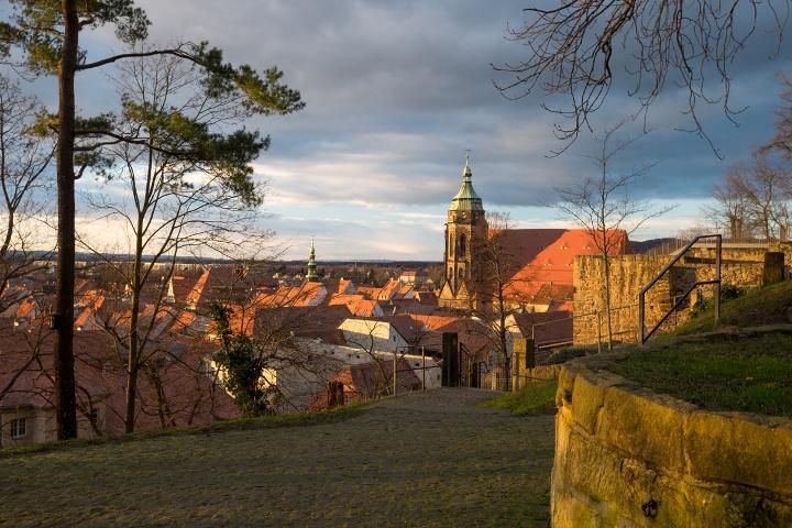 Foto Canalettoweg Blick auf die Altstadt von Pirna