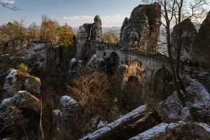 Foto Blick auf die Basteibrücke