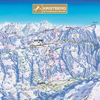 Pistenplan Kristberg im Montafon