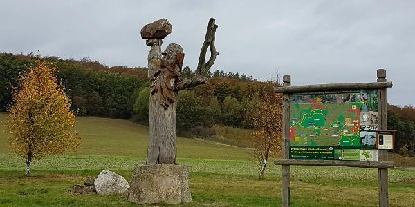 Skulptur am Wanderparkplatz
