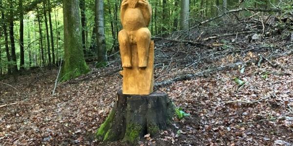 der Teufel persönlich - eine Holzplastik von Sigurd Bratzel