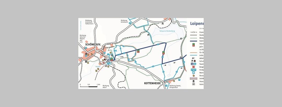 Loipenplan Schöneck