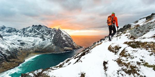 Hiking at Ryten, Lofoten