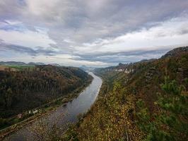 Foto Aussicht von der Kleinen Bastei bei Schmilka