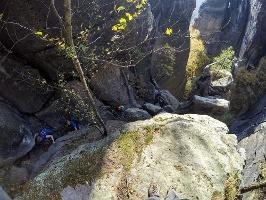 Foto Im oberen Teil der Rübezahlstiege
