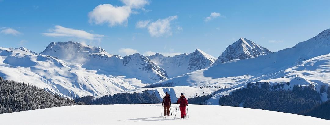 Schneeschuhlaufen in Arosa