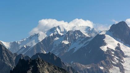 Mont Blanc vom Südwesten - Blick vom Tête Nord des Fours