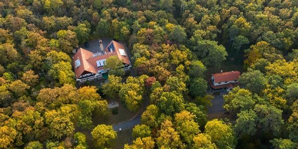 A Zseri vadászház Fehérvárcsurgó közelében a levegőből