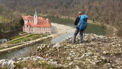 Kloster Weltenburg von oben