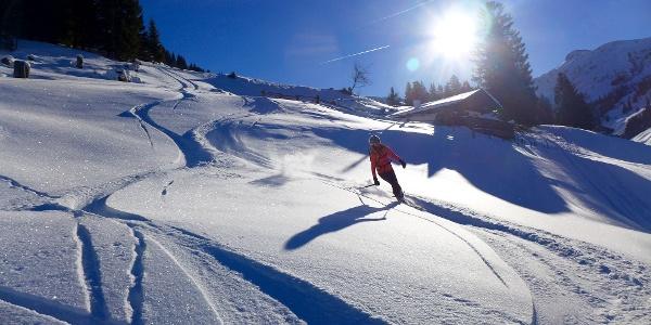 Skitour-Abfahrt