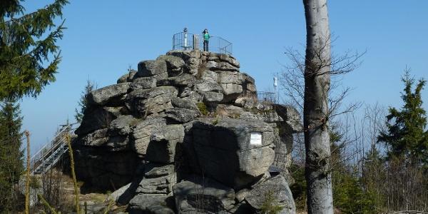 Am Gipfel des Nebelsteins
