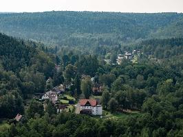 Foto Blick von der Grenzplatte nach Ostrov - Eiland