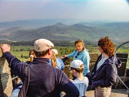 Foto Blick vom Schneebergturm nach Böhmen