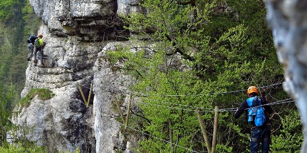 Klettersteig «Les Echelles de la Mort».