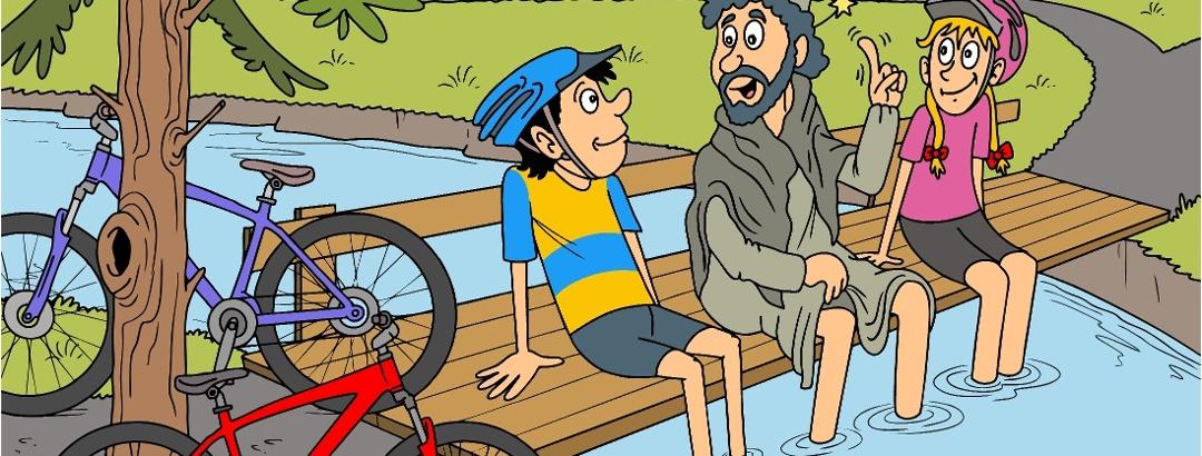 Illustration zur Geschichte  - der Heilige Johannes von Nepomuk