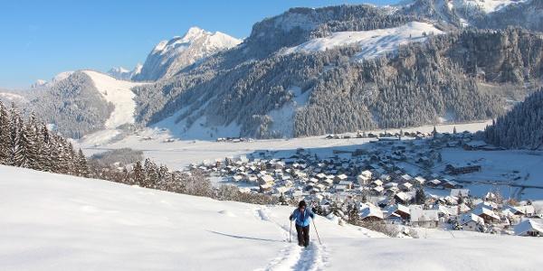 Schneeschuhtour Richtung Höchgütsch