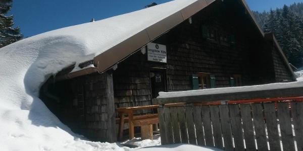 Lenggrieser Hütte im Winter