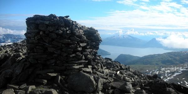 On the summit of Tromsdalstinden