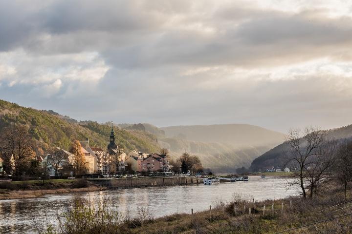 Foto Blick auf Bad Schandau