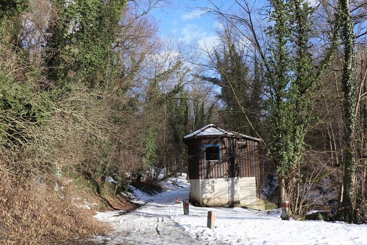 Foto Eingang zum Liebethaler Grund