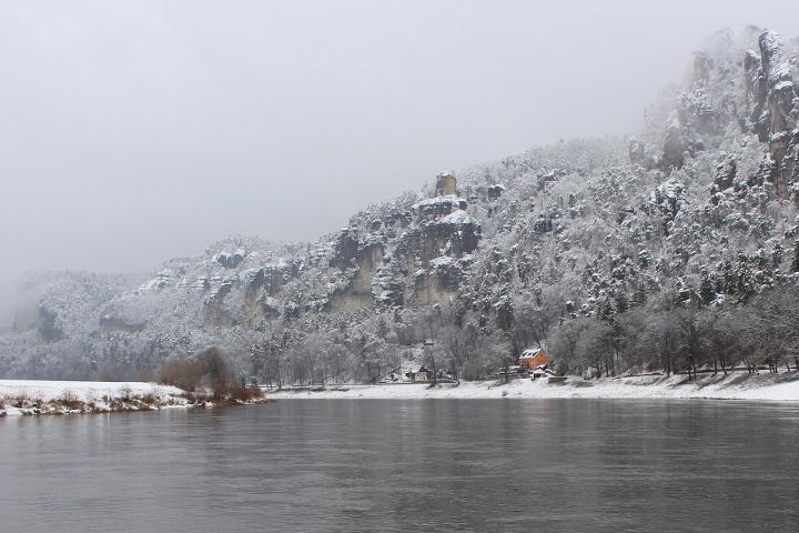 Foto Elbe zwischen Wehlen und Kurort Rathen